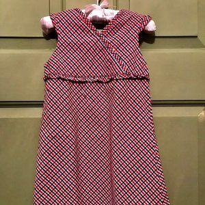 'Fun to the 4th' %100 Cotton Woven Dress - 5T EUC
